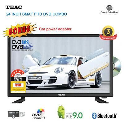AU469 • Buy TEAC 24  FHD Android Smart DVD Combo TV DVB-T2 DVB-S2 Terrestrial And Satellite