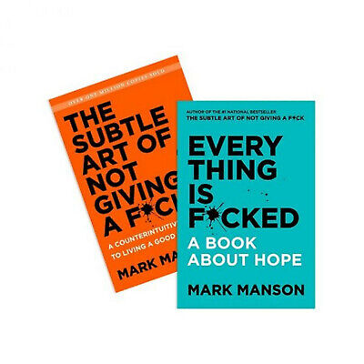 AU37.09 • Buy The Subtle Art Of Not Giving A F*ck & Everything Is F*cked By Mark Manson NEW