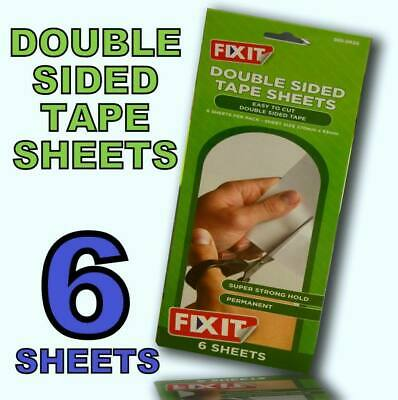 £2.99 • Buy New Fix It 6 X Double Sided Adhesive Tape Sheets - Super Strong Hold