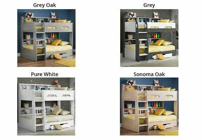 £624.10 • Buy Orion Wooden Bunk Bed, Children's Storage Bed Single With 3 Mattress Options