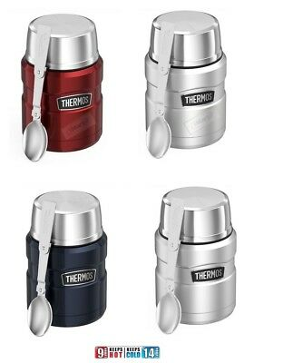 AU31.66 • Buy Thermos Stainless Steel Vacuum Insulated Food Jar Container 473ml With Spoon New
