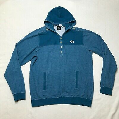 $21.97 • Buy LRG Lifted Research Group Sweater Hoodie Mens 2XL Blue Long Sleeve Knit Military