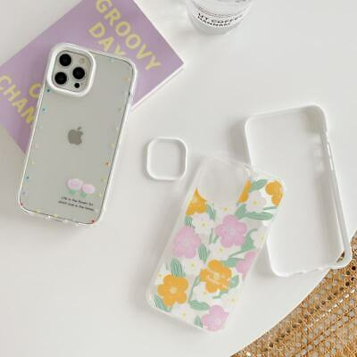 AU7.65 • Buy 3 In 1 Clear Flower Soft PC Phone Cover Case For IPhone 7/8+ 11 12 Pro XS Max XR