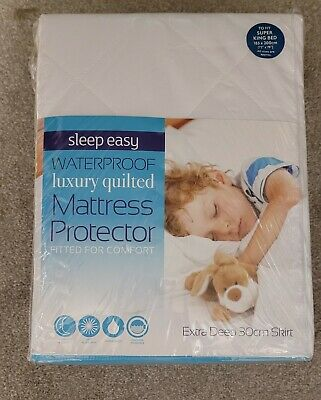 £6 • Buy Luxury Quilted Deep Mattress Protector Super King