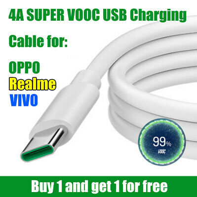 AU7.95 • Buy 4A Super VOOC Type C Micro USB Fast Charger Cable Cord For OPPO Realme VIVO