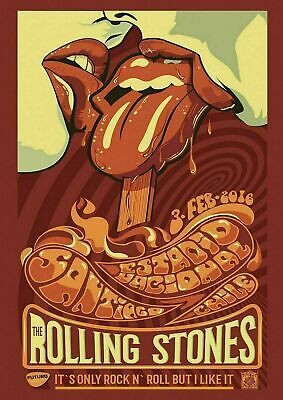£5.35 • Buy Rolling Stones 2016 A3 Rock Band Music GIG Vintage Advert Wall Art Print Poster