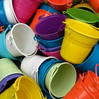 £7.99 • Buy Metal Pails Buckets For Wedding Favours Gifts Party Reception
