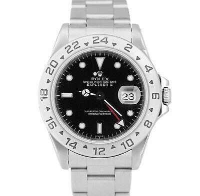 $ CDN10693.93 • Buy Rolex Explorer II  RARE SWISS ONLY DIAL Stainless Automatic 40mm GMT 16570 Watch
