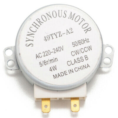 £3.63 • Buy Microwave Oven Synchronous Motor 49TYZ-A2 AC 220-240V CW/CCW 4W 5/6 RPM BC RC FI