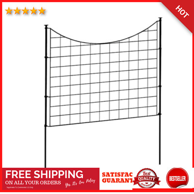 £81.63 • Buy (5 Pack) 2.08 Ft X 2.46 Ft Stakes With Black Metal Garden Fence Panel