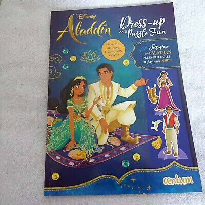£4.99 • Buy Disney Aladdin Dress- Up And Puzzle Book.with Aladdin & Jasmine Press Out Dolls