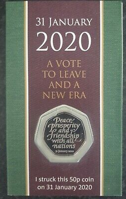 £25.95 • Buy 50p Coin 2020 Strike Your Own Withdrawal From The EU BREXIT SYO Royal Mint BUNC