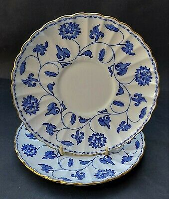 £11.99 • Buy Two Bone China Spode Blue Colonel Soup Coupes Saucers Only