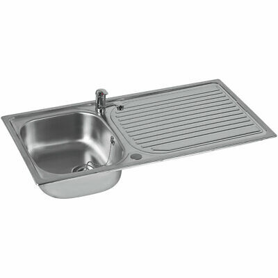 £103.99 • Buy Astracast Aegean  Stainless Steel Inset Sink & Tap  1 Bowl 965 X 500mm