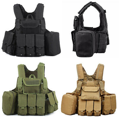 $47.49 • Buy Tactical Military Vest Molle Combat Assault Plate Carrier Airsoft Paintball New