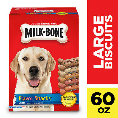 $9.17 • Buy Milk-Bone Flavor Snacks Dog Biscuits - For Large-sized Dogs, 60-Ounce