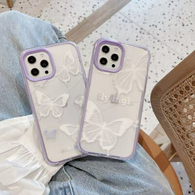 AU7.72 • Buy 3 In 1 Butterfly Soft+PC Phone Cover Case For IPhone 7/8plus 11 12 Pro Max XR XS