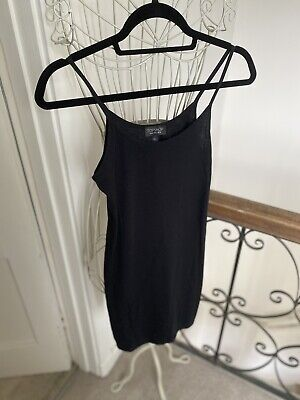 £4 • Buy Black Topshop Cami Long Top/dress Tight Fitted