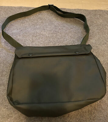$20 • Buy Vintage Military Olive Drab Rubberized Snap-closure Bag