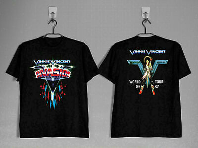 $17.50 • Buy Vinnie Vincent Invasion 1986- 87 T Shirt SIZE USA Rock Kiss Band Full Size