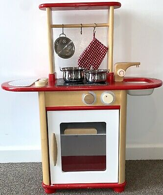 £23 • Buy Pintoy - Wooden Kitchen Combo - Red With Pots (Used)
