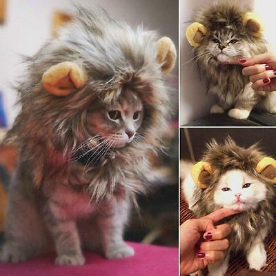 £3.73 • Buy Lion Mane Wig For Dogs Cat Halloween Fancy Dress Up Pet Costume Clothes PF