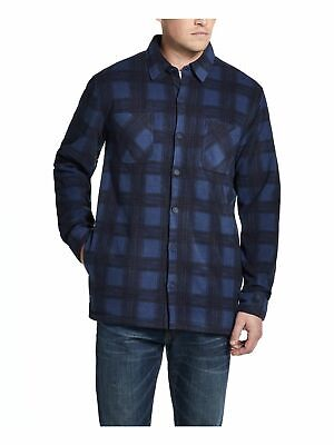 $7.99 • Buy WEATHERPROOF VINTAGE Mens Navy Plaid Long Sleeve Collared Button Down Sweater XL