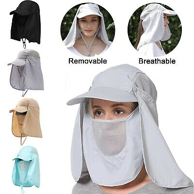 £7.89 • Buy Unisex Outdoor Sun Hat UV Protection Fishing Hiking Caps Face Neck Flap Cover UK