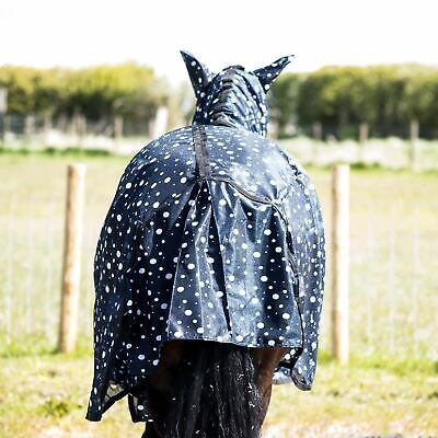 £25.99 • Buy Horse Pony Fly Rugs Sheet Lite Combo Belly Tail Cover Mask Navy White Circle