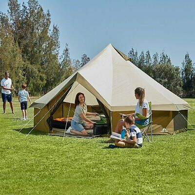 £189.99 • Buy 4m Yurt Tent Camping Festival 8 Person Large Glamping Lightweight Waterproof