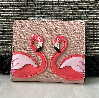 £39.99 • Buy Kate Spade New York Nude And Pink Leather Flamingo Purse Card Holder