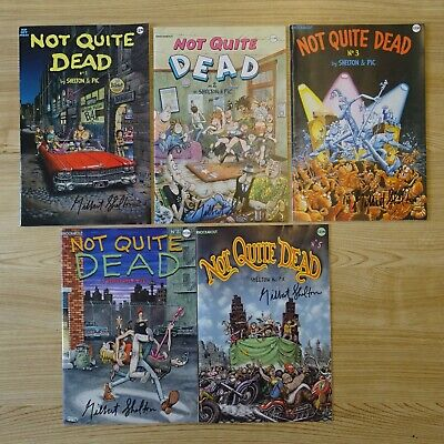 £15 • Buy Comics SIGNED By GILBERT SHELTON - Not Quite Dead #Select C8