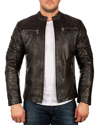 $252.58 • Buy Reichstadt Men's Genuine Leather Jacket Crocodile Style Exclusive Business
