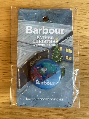 £4.25 • Buy Barbour Raymond Briggs Father Christmas Pin Badge Limited Edition The Snowman