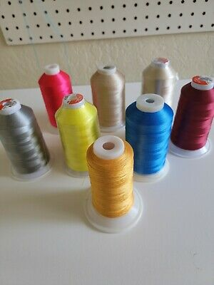 $14.79 • Buy 8 Polyester Machine Embroidery Thread Huge 5000m (5500 Yard) Cones !