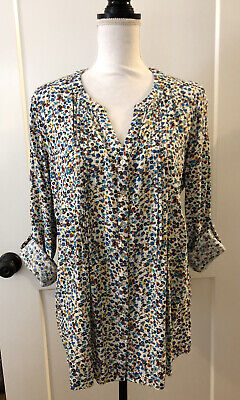 $ CDN30.21 • Buy Anthropologie Jane And Delancey Women's Size Large Floral Button Up Shirt