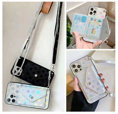 AU12.98 • Buy For OPPO A53S AX7 FIND X2 Card Wallet Bag With Strap Crossbody Stand Case Cover