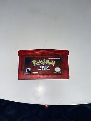 $78.88 • Buy ORIGINAL AUTHENTIC Pokemon Ruby Version Gameboy Advance GBA Game 🤩