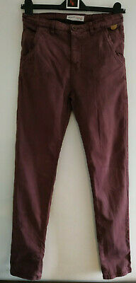£2 • Buy JRCW31) Age 12-13 Years Boys Trousers Claret/wine Colour Minoti Used Marked