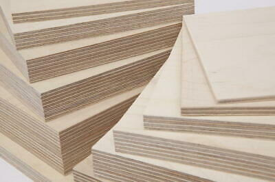 £17.99 • Buy Birch Plywood Ply Boards 6mm - 24mm 1'x1' - 4x2' Cut To Size Sheets Grade BB/CP