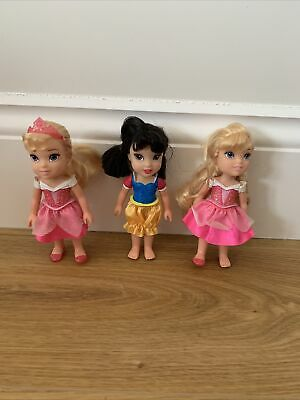 """£14.99 • Buy Disney Princess Petite Mini Dolls X 3. 5""""""""Inches Come Play With Me"""