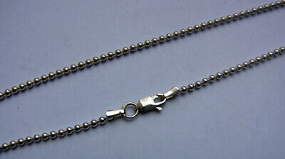 £21 • Buy Sterling Silver Ball Chain Necklace - 610 Mm / 24 In - 9.6g - Lobster Clasp