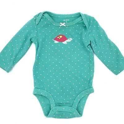 £4.99 • Buy Carter's Long Sleeve One Piece With Polka Dots And Sweet Smiling Turtle 3 Months