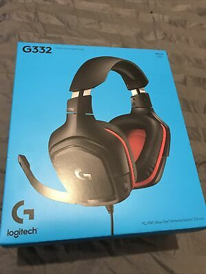 AU69 • Buy Logitech G332 Stereo Wired Gaming Headset Headphones PC PS4 Xbox Nintendo 3.5mm
