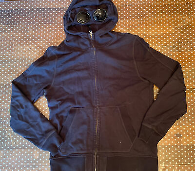 £95 • Buy CP Company Hoodie With Goggles | XL | Navy Blue | Used