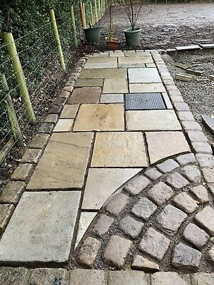 £65 • Buy Reclaimed Yorkstone Flags Direct To U From Thestonedealerdirect !!£50-£70 Asqyd!