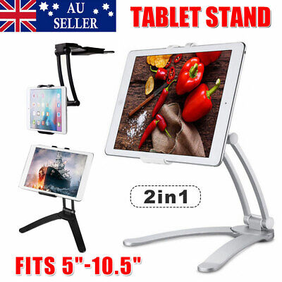 AU24.65 • Buy Tablet Stand Holder Desk Kitchen Wall Mount Bracket For IPad Air IPhone Samsung