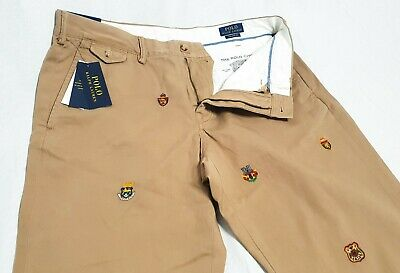 $68.77 • Buy Ralph Lauren Polo Mens Embroidered Tan Straight Fit Chino Trousers (W36 L34)
