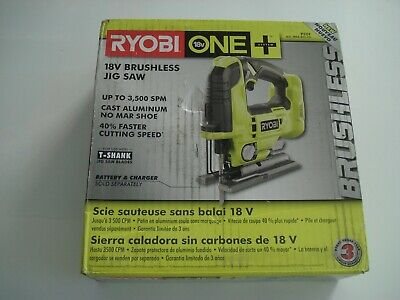 £50.31 • Buy RYOBI P524 18-Volt ONE+ Cordless Brushless Jig Saw (Tool Only)