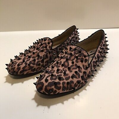£21.62 • Buy TYPE Z Leopard Print Spiked Flats Loafers Size 7.5 Ladies Women's Fashion